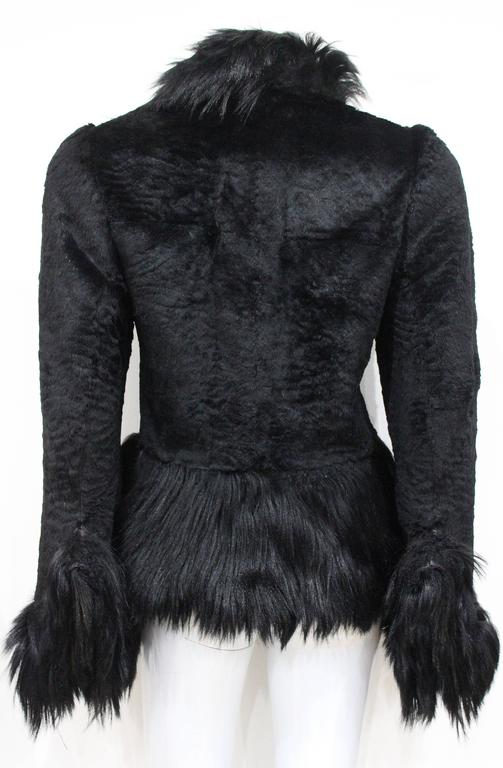 Important Early Alexander McQueen fur jacket, 'Eshu' African Collection Fall 200 In Good Condition For Sale In London, GB