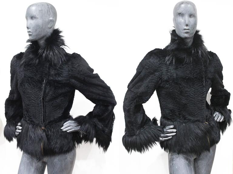 Important Early Alexander McQueen fur jacket, 'Eshu' African Collection Fall 200 For Sale 1