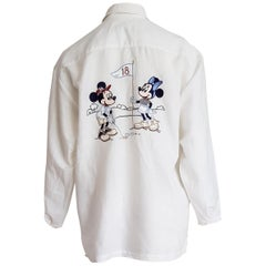 DONALDSON  for 18th anniversary Mickey Mouse linen collection shirt- Unworn, New