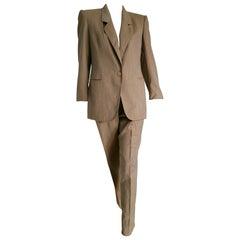 Gianfranco FERRE light brown wool jacket pants suit - Unworn, New