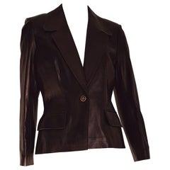 CELINE black, light bronze tone, leather jacket - Unworn, New