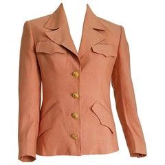 GUCCI burnt pink, sun design on the buttons, silk jacket - Unworn, New