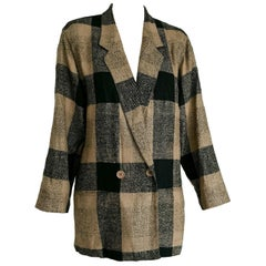 SOPRANI beige brown silk and wool jacket - Unworn, New