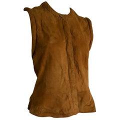 """Giorgio ARMANI brown suede vest gilet """"Dartagnan"""" model - Unworn, New"""