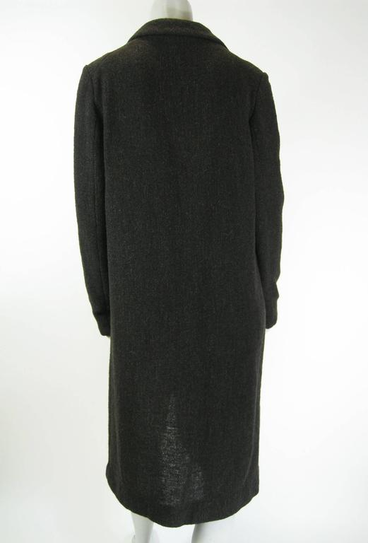 Women's Marni Long Taupe Wool Sweater Coat For Sale