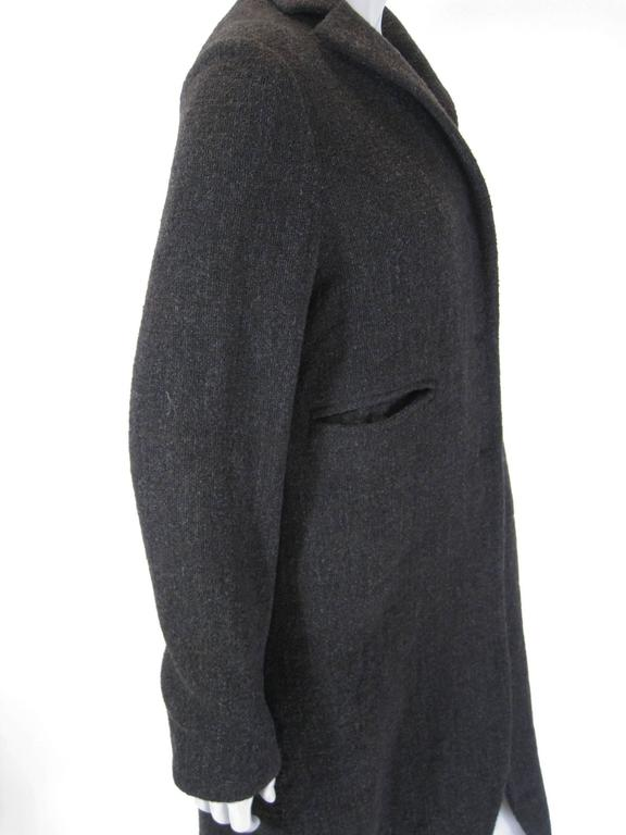 Marni Long Taupe Wool Sweater Coat In Excellent Condition For Sale In San Francisco, CA