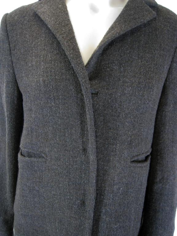 Black Marni Long Taupe Wool Sweater Coat For Sale