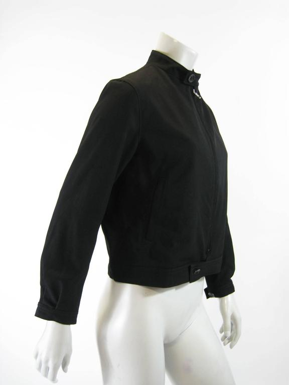 Y's by Yohji Yamamoto classic cut black bomber jacket.