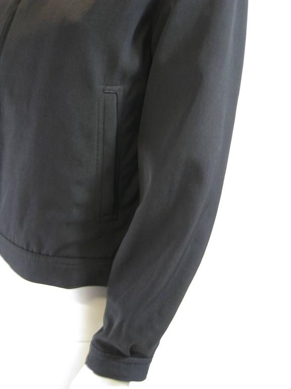 Women's Y's Yohji Yamamoto Black Bomber Jacket For Sale