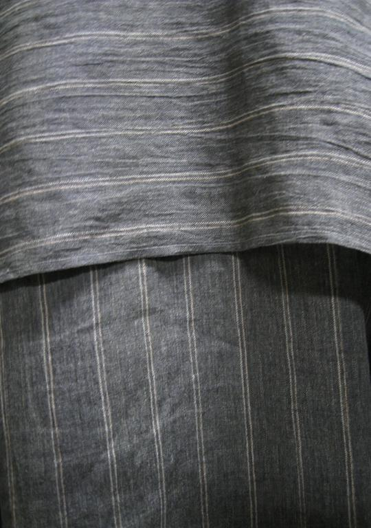 Issey Miyake Linen Striped Draped Open Jacket In Good Condition For Sale In San Francisco, CA