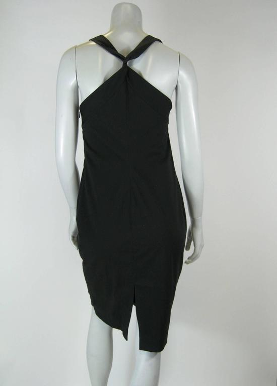 Gucci Black Empire Waist Sleevless BodyCon Dress For Sale 2