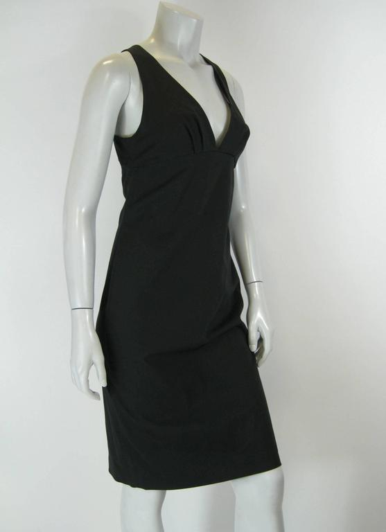 Black Gucci fitted dress.