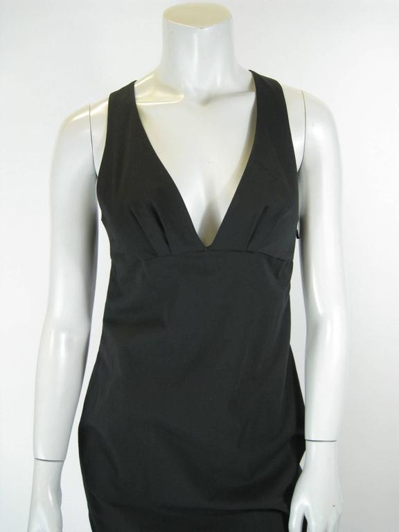 Gucci Black Empire Waist Sleevless BodyCon Dress In Excellent Condition For Sale In San Francisco, CA