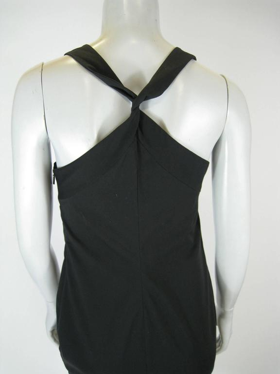 Gucci Black Empire Waist Sleevless BodyCon Dress For Sale 1