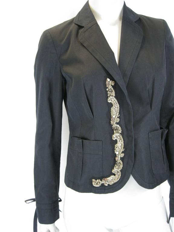 Kenzo Black Embellished Beaded Jacket 2