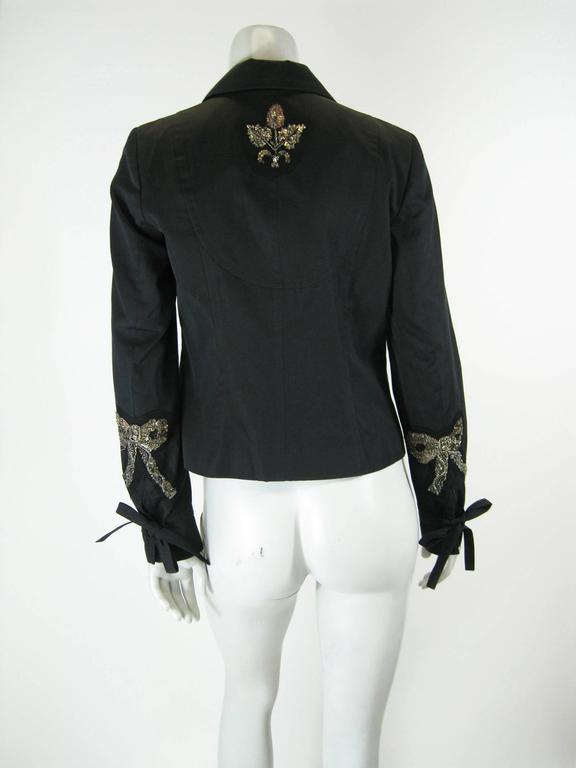 Kenzo Black Embellished Beaded Jacket 7