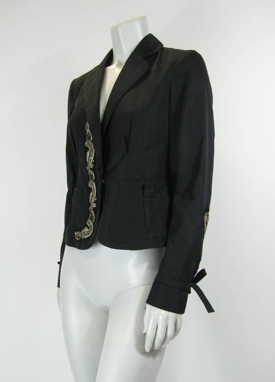 Kenzo Black Embellished Beaded Jacket 3