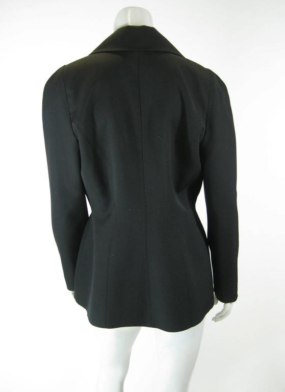 Thierry Mugler Black Suit Jacket For Sale 1