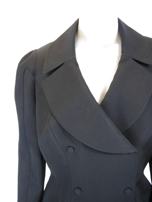 Thierry Mugler Black Suit Jacket In Excellent Condition For Sale In San Francisco, CA