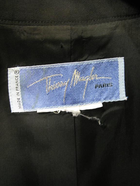 Thierry Mugler Black Suit Jacket For Sale 2