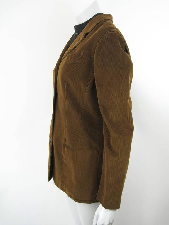 Gaultier Junior Brown Corduroy 2 Piece Mock Jacket Shirt and Vest For Sale 4