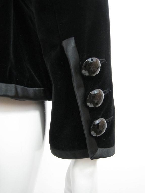 Yves Saint Laurent Rive Gauche Black Velvet Evening Jacket For Sale 1
