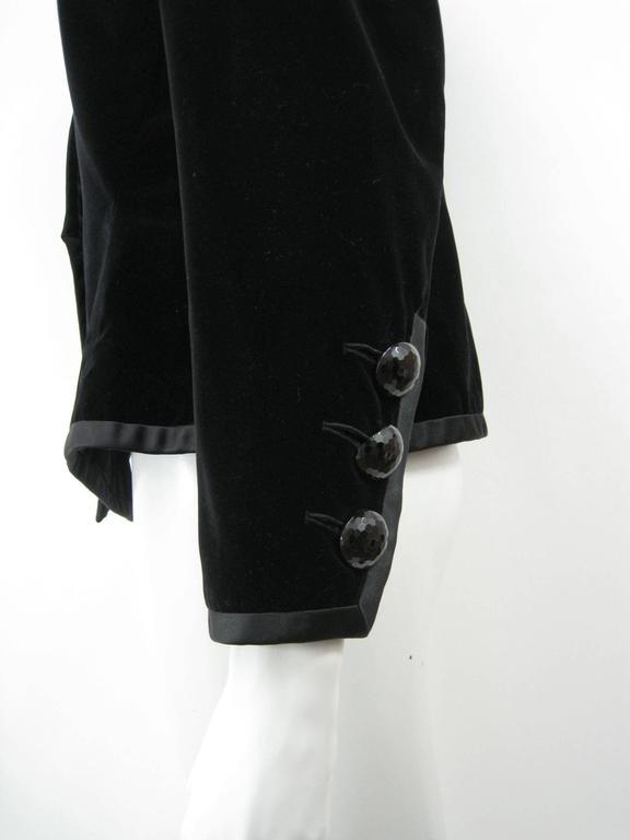Women's Yves Saint Laurent Rive Gauche Black Velvet Evening Jacket For Sale
