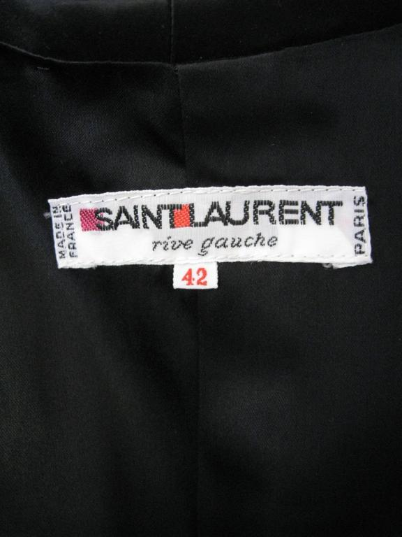 Yves Saint Laurent Rive Gauche Black Velvet Evening Jacket For Sale 3