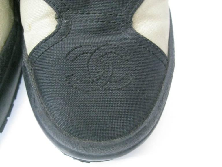 Women's or Men's Chanel Black and Off-White Athletic Shoes  For Sale