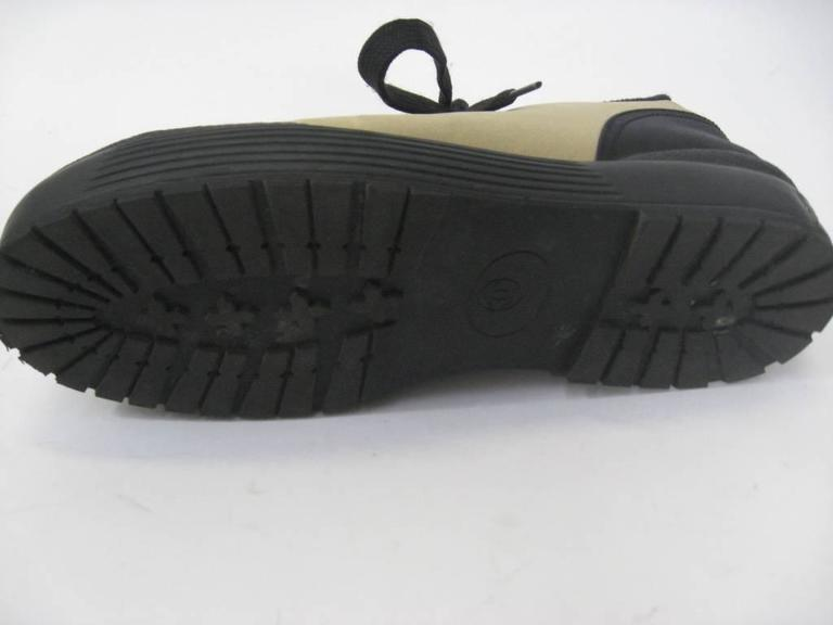 Chanel Black and Off-White Athletic Shoes  For Sale 2
