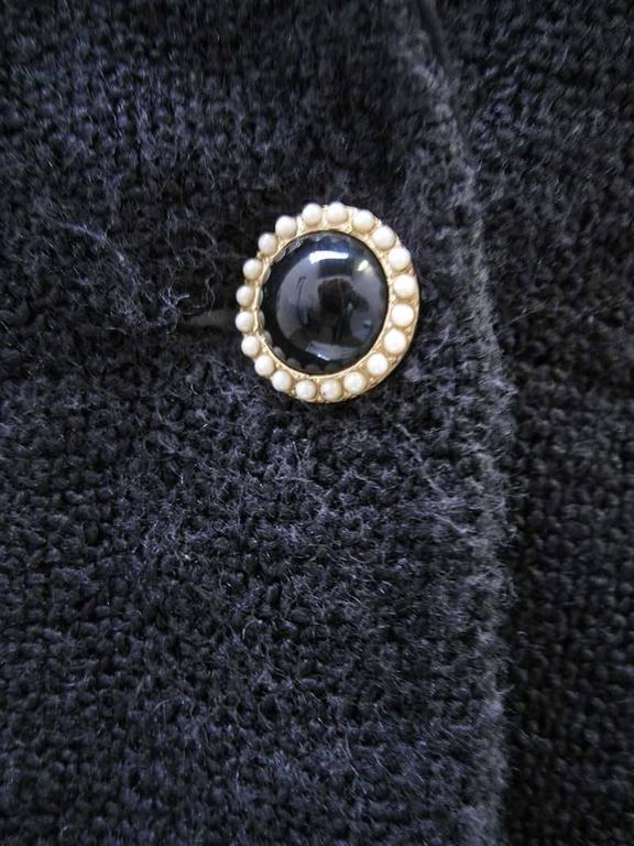 Chanel 2002 Black Silk Boucle Coat For Sale 1
