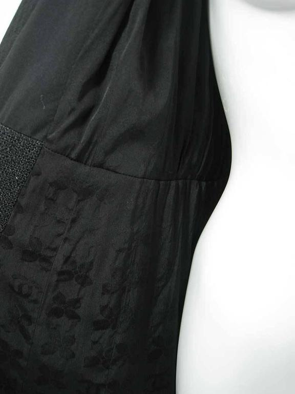 Chanel 2002 Black Silk Boucle Coat For Sale 2