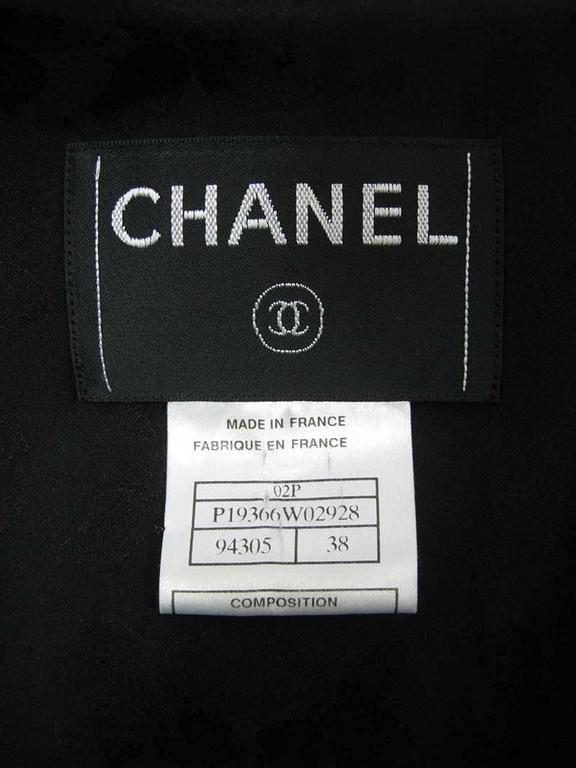 Chanel 2002 Black Silk Boucle Coat For Sale 3
