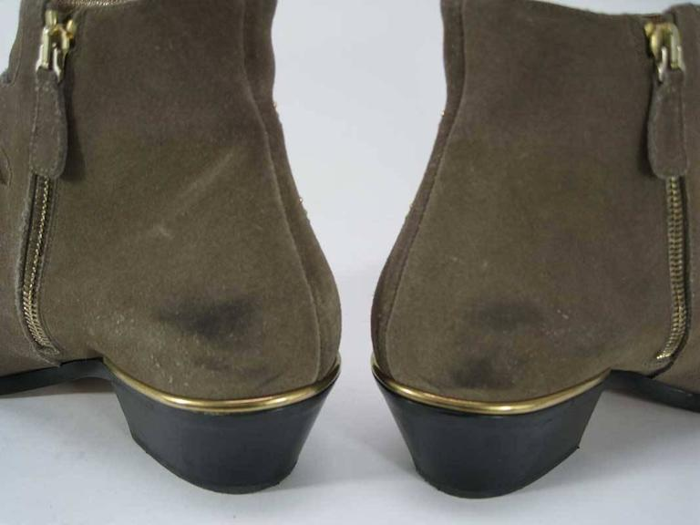 Chloe Susanna Boots Studded Coffee Brown Suede For Sale 1