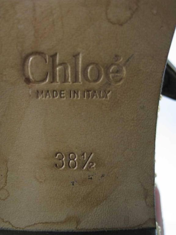 Chloe Susanna Boots Studded Coffee Brown Suede For Sale 4