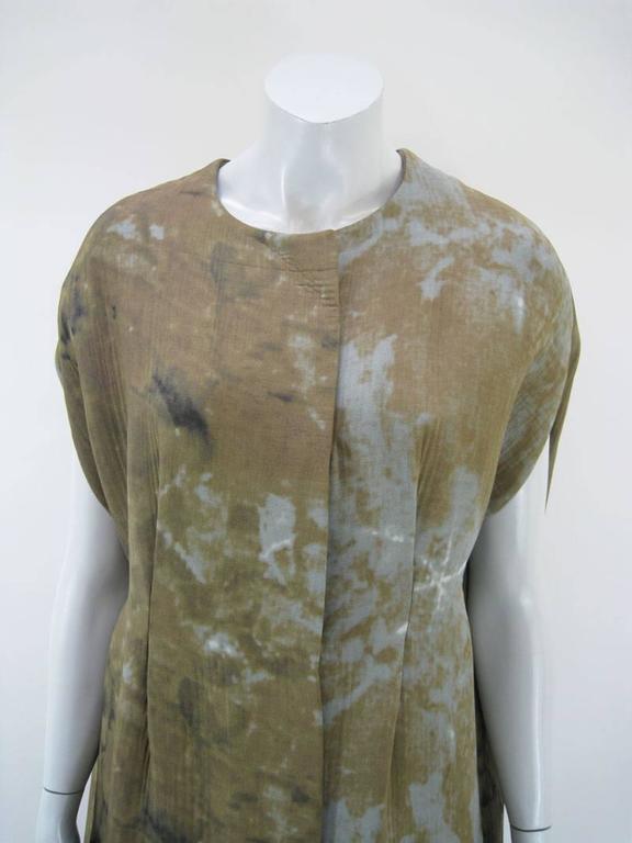 Black Marni Rust Dye Sleeveless Coat  For Sale