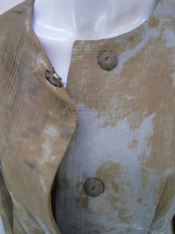 Marni Rust Dye Sleeveless Coat  For Sale 2