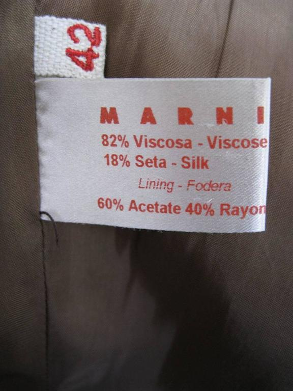 Marni Rust Dye Sleeveless Coat  For Sale 4