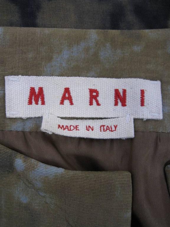 Marni Rust Dye Sleeveless Coat  For Sale 3