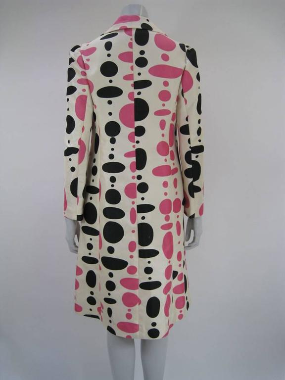Marni Polka Dot Cotton and Silk Coat In Good Condition For Sale In San Francisco, CA