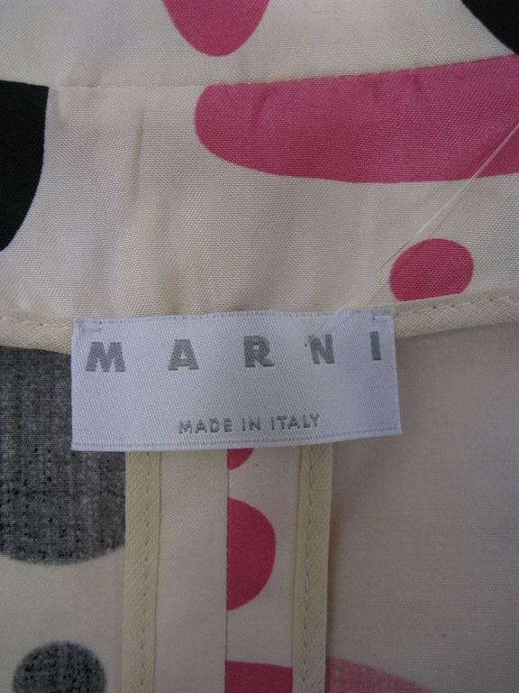 Marni Polka Dot Cotton and Silk Coat For Sale 3