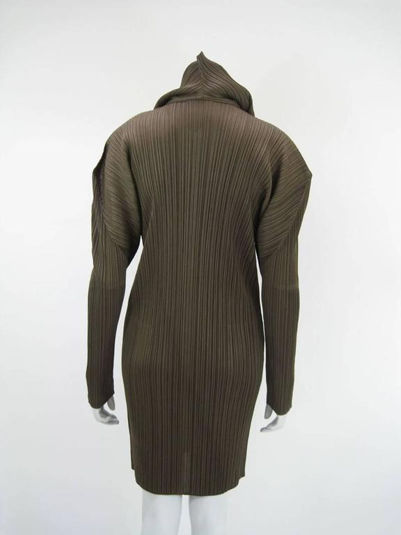 Issey Miyake Pleats Please Hooded Coat In Excellent Condition For Sale In San Francisco, CA