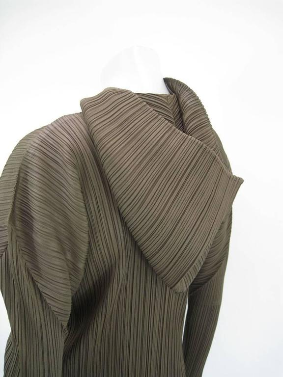 Women's Issey Miyake Pleats Please Hooded Coat For Sale