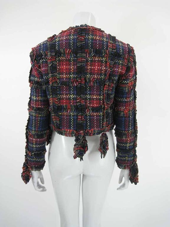 Moschino Cheap and Chic 1993-1994 Plaid Wool Jacket In Excellent Condition For Sale In San Francisco, CA