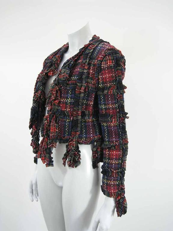Plaid wool jacket with