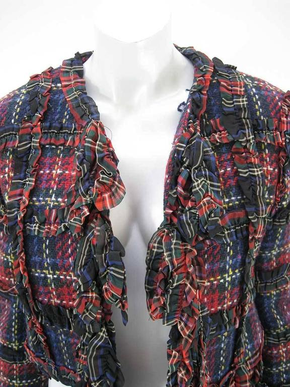 Black Moschino Cheap and Chic 1993-1994 Plaid Wool Jacket For Sale
