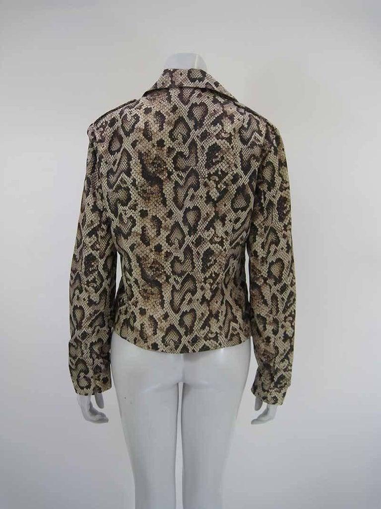 Dolce & Gabbana D&G Snakeskin Windbreaker Jacket 4