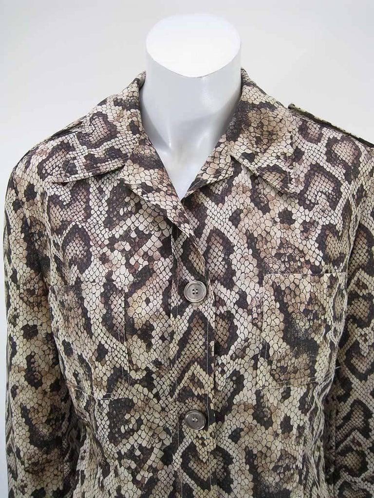 Dolce & Gabbana D&G Snakeskin Windbreaker Jacket 2