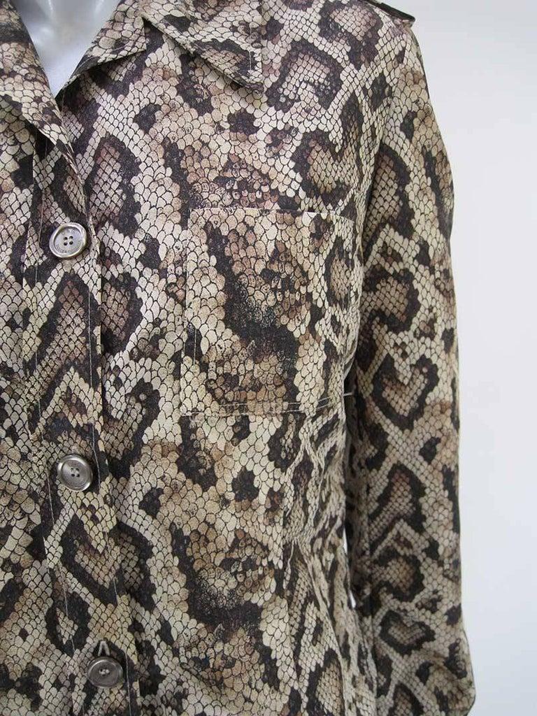 Dolce & Gabbana D&G Snakeskin Windbreaker Jacket 3