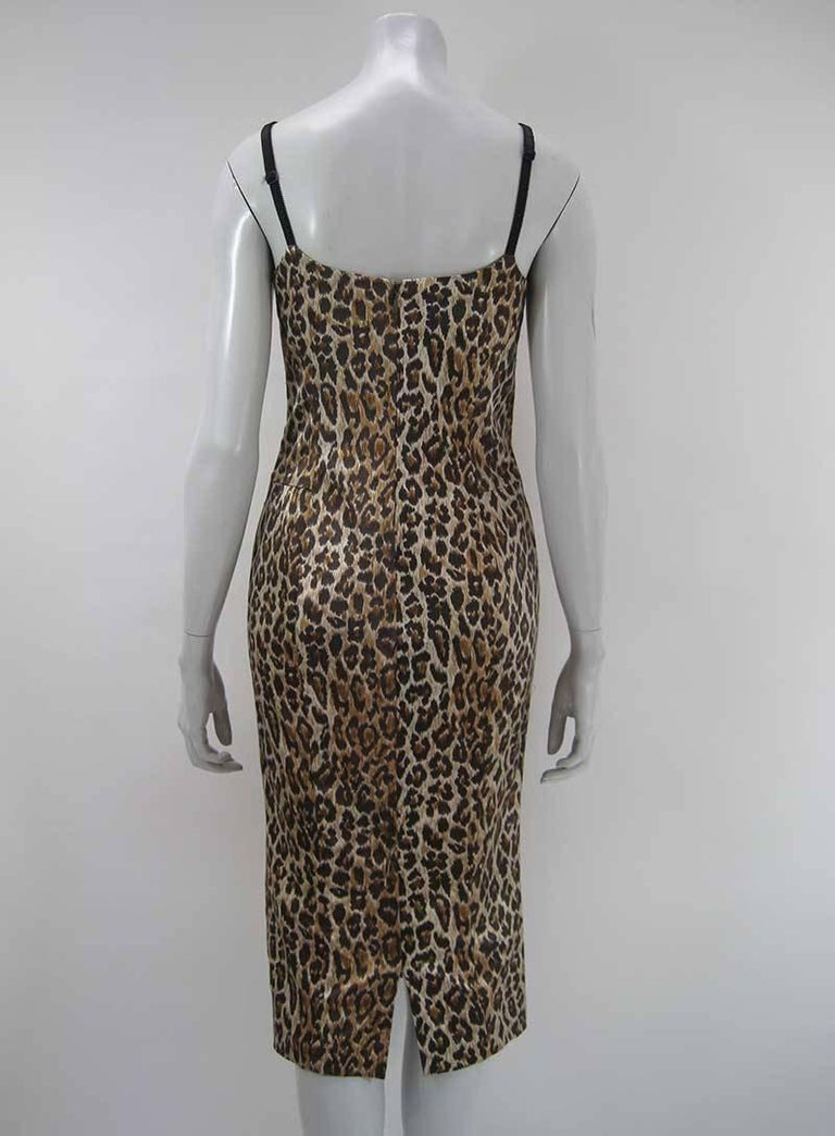 Dolce & Gabbana Satin Leopard Print Dress 6
